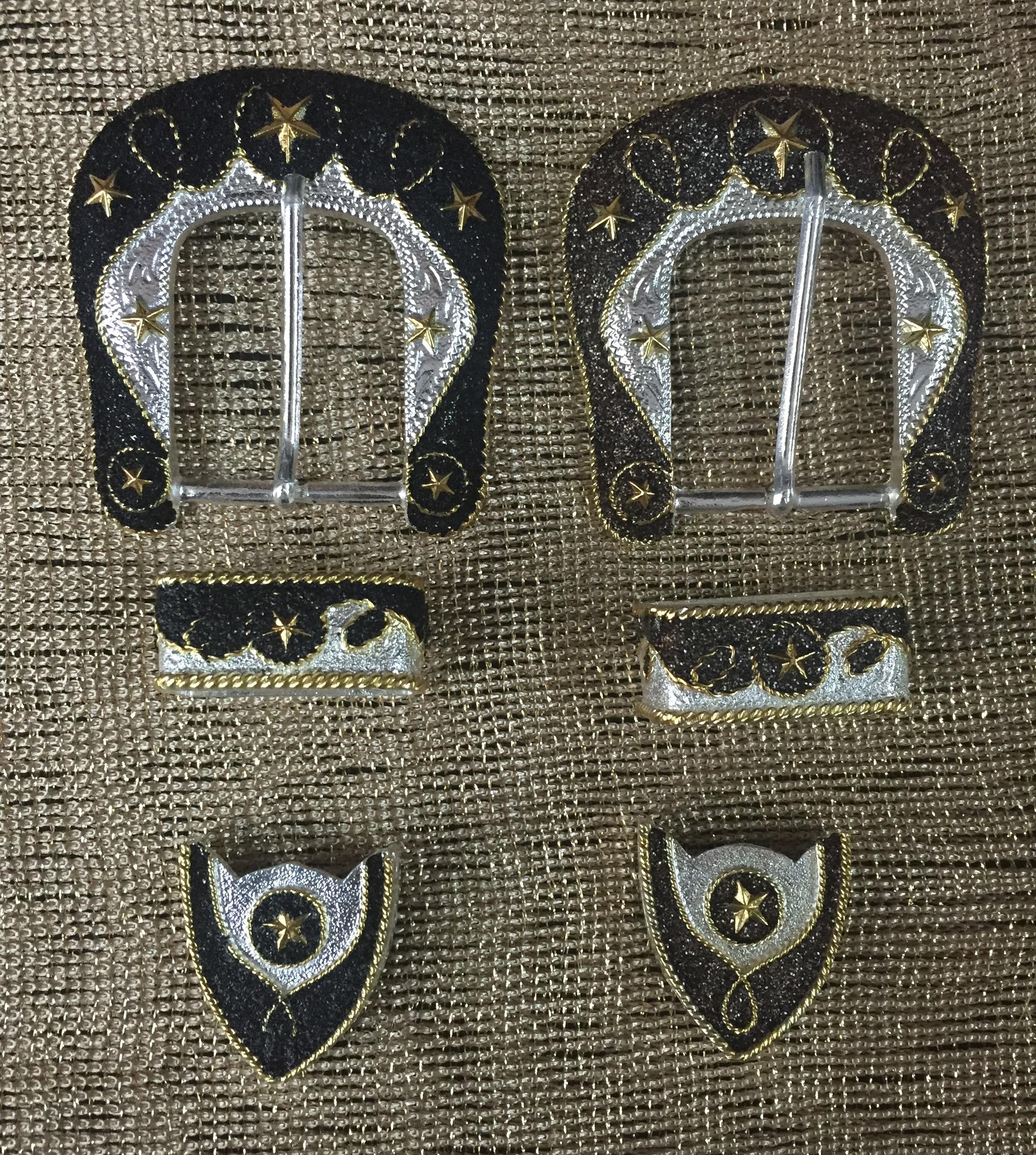 A-83 Hebilla Vaquera de 3 piezas con Brillantina  56eb6cc5c921